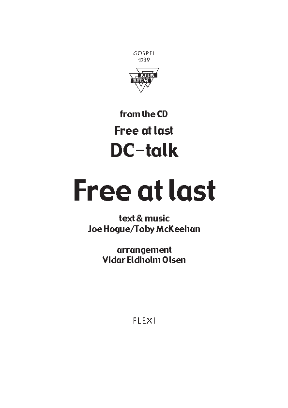 Free at last (DC Talk)