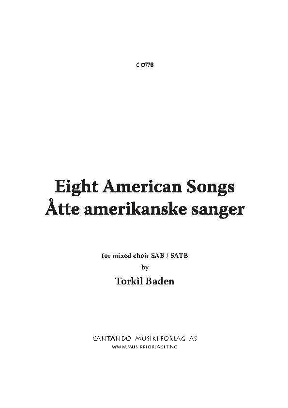 Cantando Musikkforlag AS Eight American Songs for mixed